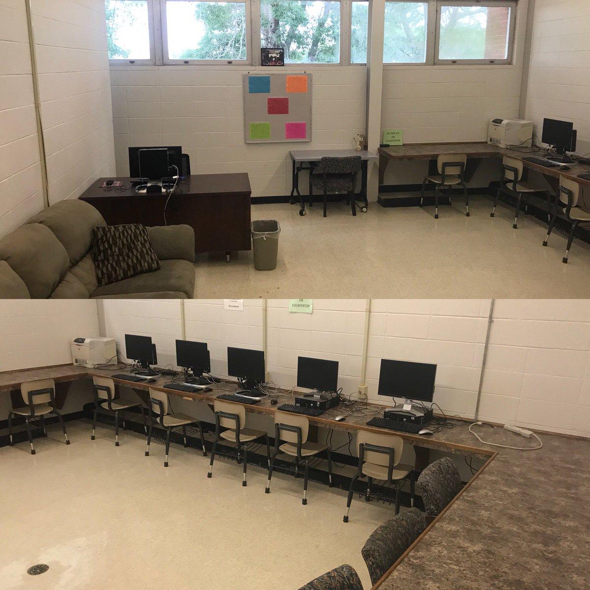 Daytime Tutoring Lab all set up for 8am start.  Academics 1st.  #trusttheprocess #trusttheplan <br>http://pic.twitter.com/EKBJTFRkOP