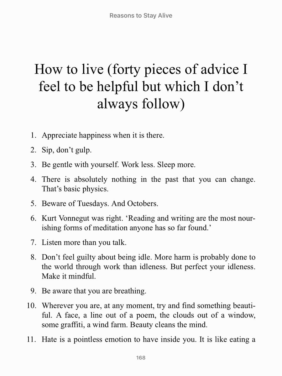 I've shared these astonishing pieces of advice to friends in need so many times by the amazing @matthaig1   With 2/3 the way through #edfringe I thought it would be good to share once more to all the creatives who may be struggling. <br>http://pic.twitter.com/gGsnoGXZ4G