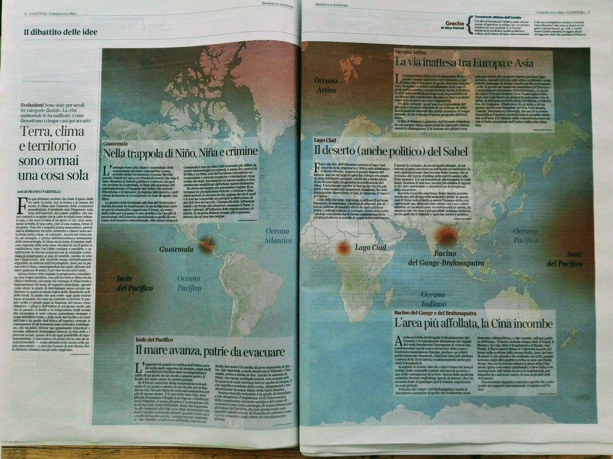 #Terra #Clima e #territorio sono una cosa sola, Franco Farinelli @Corriere @ageiweb @MasterGIS_Droni @UniPadova @IlBoLive @WeDontHaveTime0 @geoyasuni #sahel #nino #nina #crimine #Pacifico #Guatemala #Gange #Bramaputra #Cina #lago #Ciad #Oceano #Artico  - Ukustom