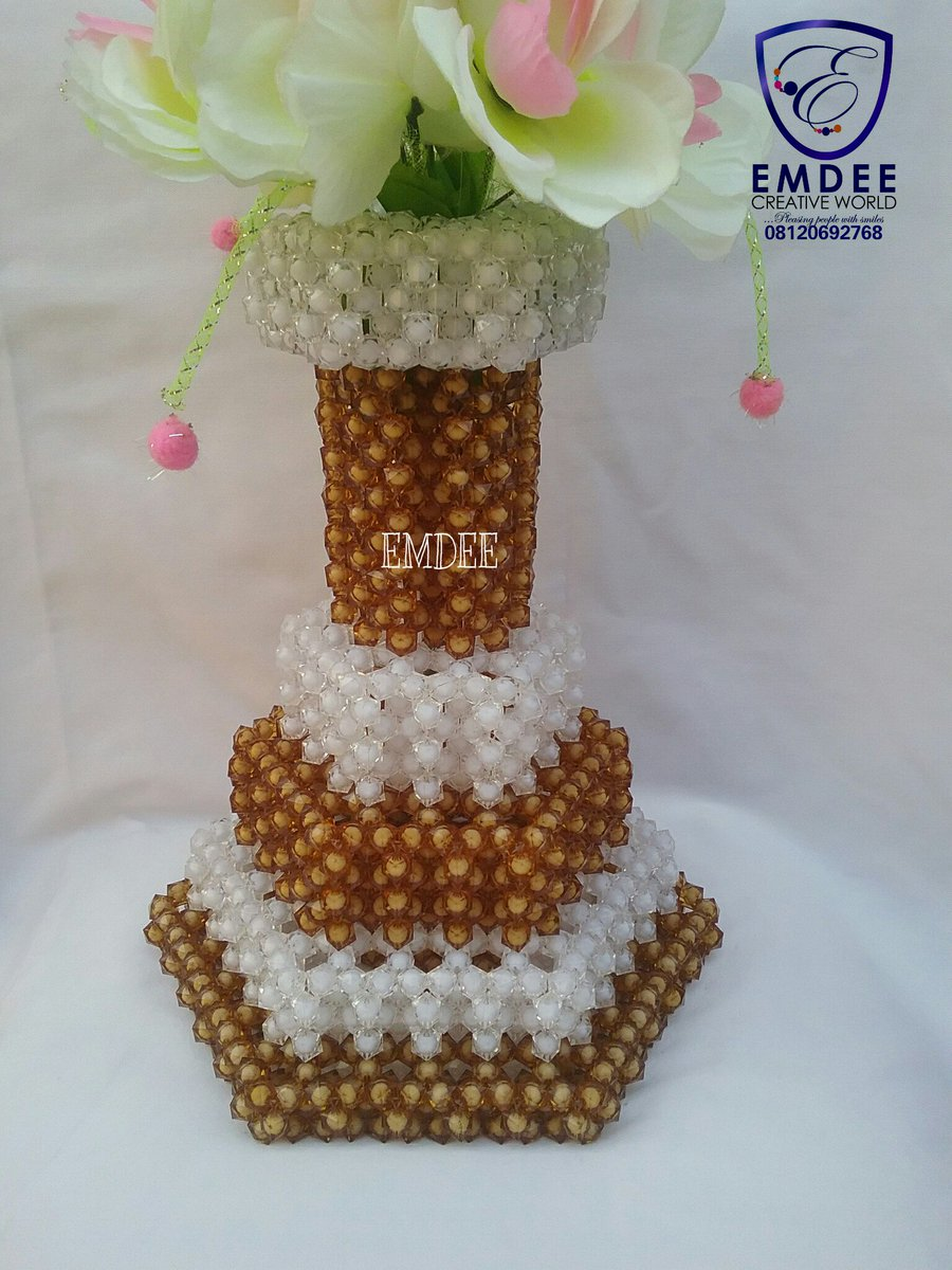 AJAYI OLUWASEUN on Twitter \ Pre-order for this beautiful Beaded-Flower Vase in any colour of your choice.. ✓Affordable ✓Durable ✓Eye-catchy ✓100 years ... & AJAYI OLUWASEUN on Twitter: \