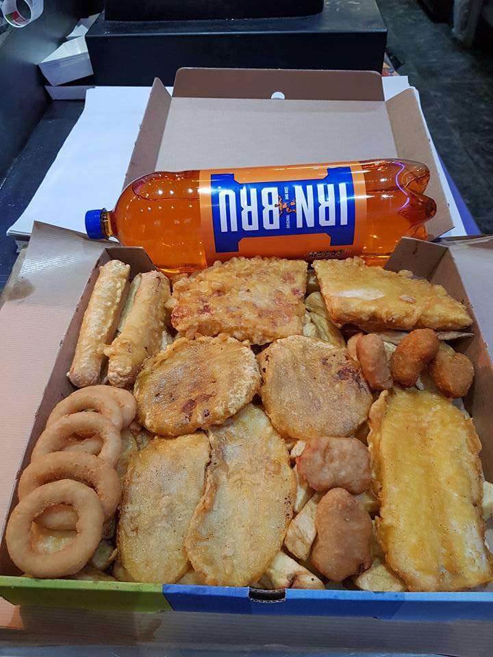 A chippy in my hometown is selling this crunch box for a TENNER and if you dont think it looks like the most appetizing thing ever then theres no hope for you.