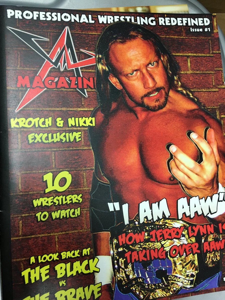 Going through storage today. You guys member the short live @AAWPro magazine? #JerryLynn #MCMG