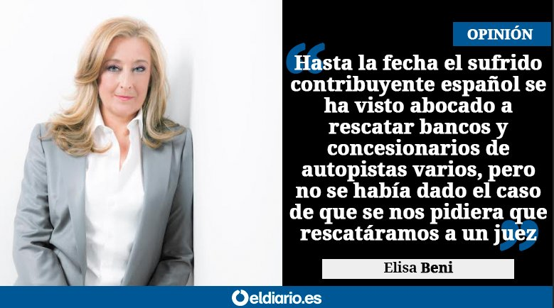 ✍️ OPINIÓN   Rescatando a Llarena https://t.co/ySDcp4JIwI Por @elisabeni