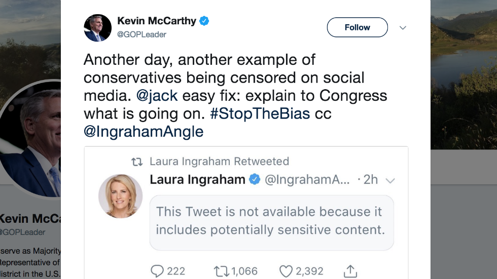 Social media mocks GOP leader for complaining about Twitter 'censorship' that came from his own account settings https://t.co/FdAaRw7Bbp