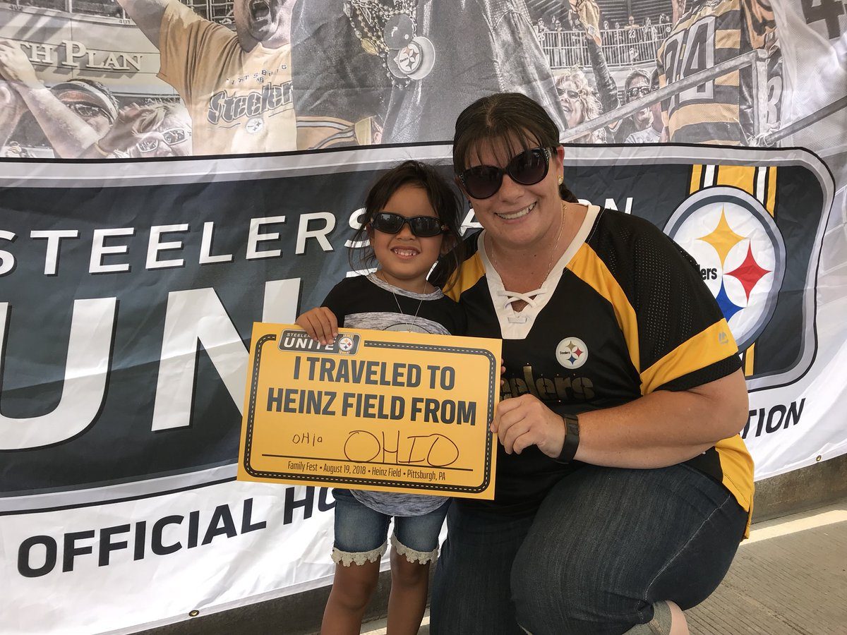 It's a great day to celebrate being part of #SteelersNation! Check out where fans have traveled in from for #FamilyFest! #SNUCelebrates