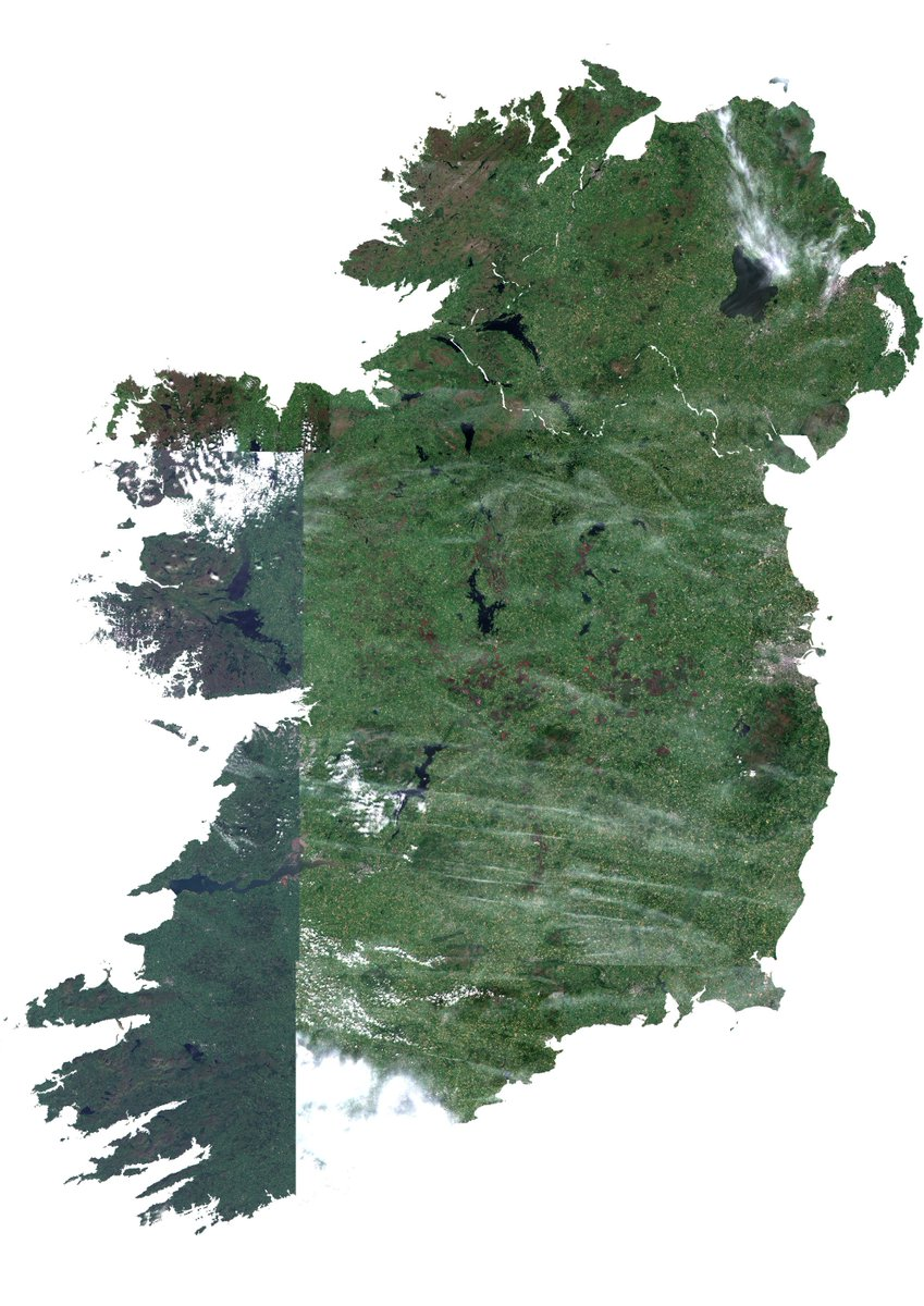 The &#39;Emerald isle&#39; during a drought. Combination of 2015/16/17 vs 2018 July images using #Copernicus #Sentinel2 images @CopernicusLand @CopernicusEU @kenbyrne8 @UL @BioSci_UL @climpeter @npwsBioData @opwireland @GreenNews_ie @IrishResearch #LoveirishResearch<br>http://pic.twitter.com/9x69EbtcBK