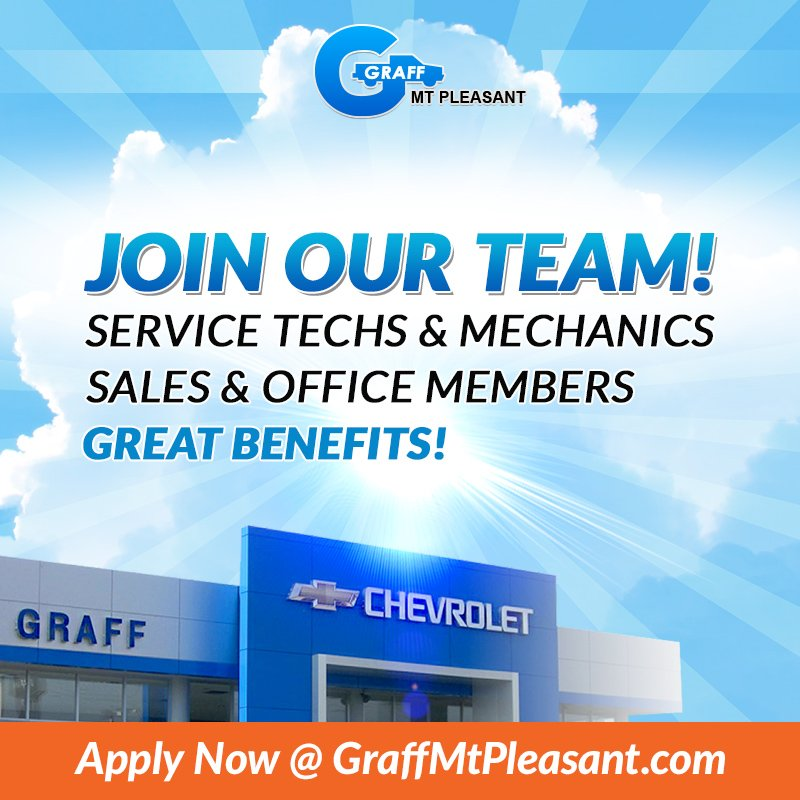 Weu0027re Looking For Experienced, Hard Working Individuals To Join The Graff Mt.  Pleasant Family! Learn More And Apply Today: Https://bit.ly/2IO9KZs ...