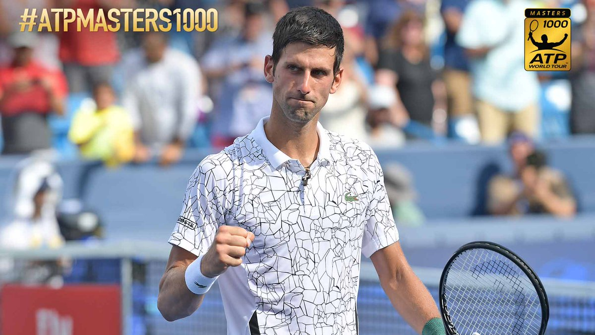 One set from history 🙌   Novak Djokovic takes the opening set of the @CincyTennis final 6-4, moving closer to completing the Career Golden Masters by lifting the 🏆 at all nine #ATPMasters1000 events.  Follow @Infosys #ATP Scores & Stats ➡️ https://t.co/44ScYPlGIr
