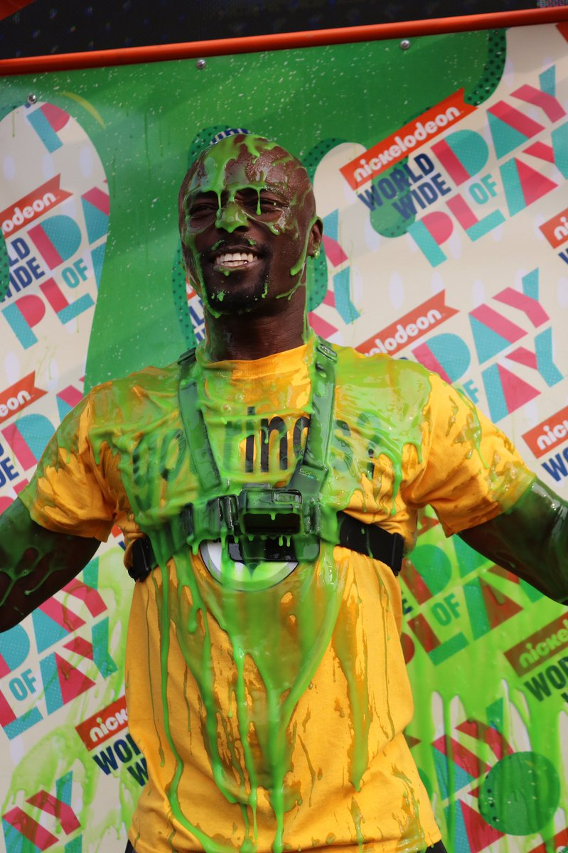 This is what happens when @Nickelodeon slimes @ToneTime10. #FamilyFest