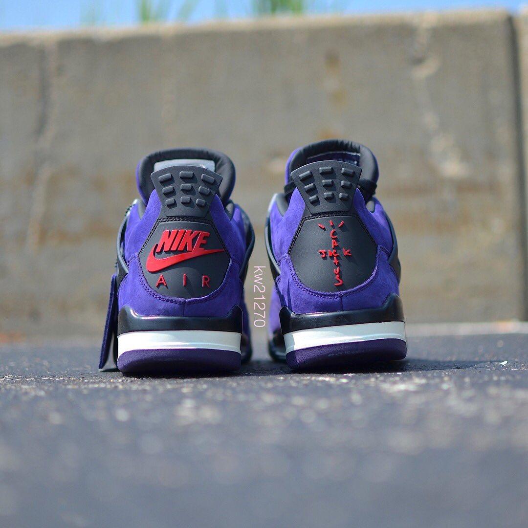 "0201b84a9069 A detailed look at the purple ""Cactus Jack""  travisscott x Air Jordan 4.  📸  kw21270"