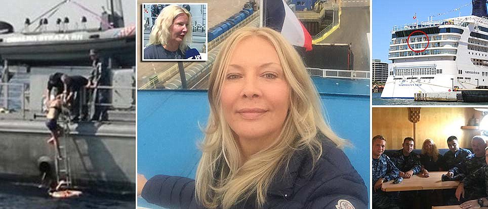 REVEALED: British air hostess who survived in the Adriatic after plunging from cruise liner 'following night drinking' https://t.co/8B3OP69ngF
