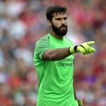 Image for the Tweet beginning: Alisson's Liverpool debut ends with