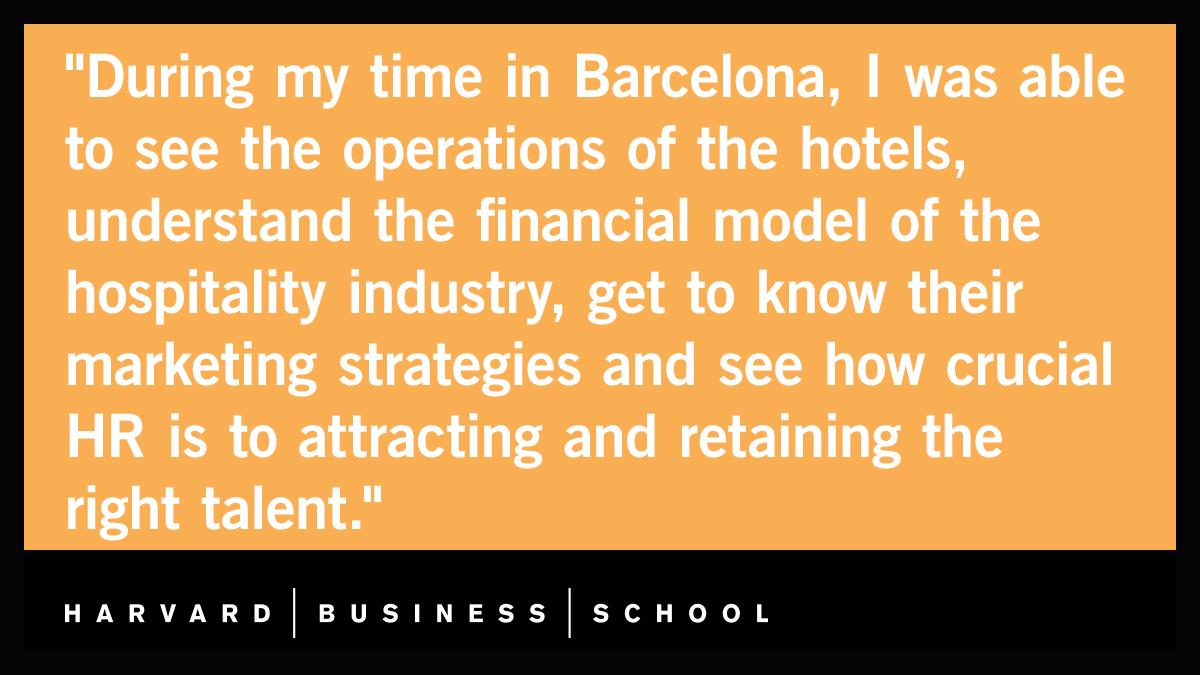 What is it like interning at @Marriott's Management Acceleration Program? One MBA is spending his summer between Barcelona and London: https://t.co/7DqYIUItS8  #HBSInterns