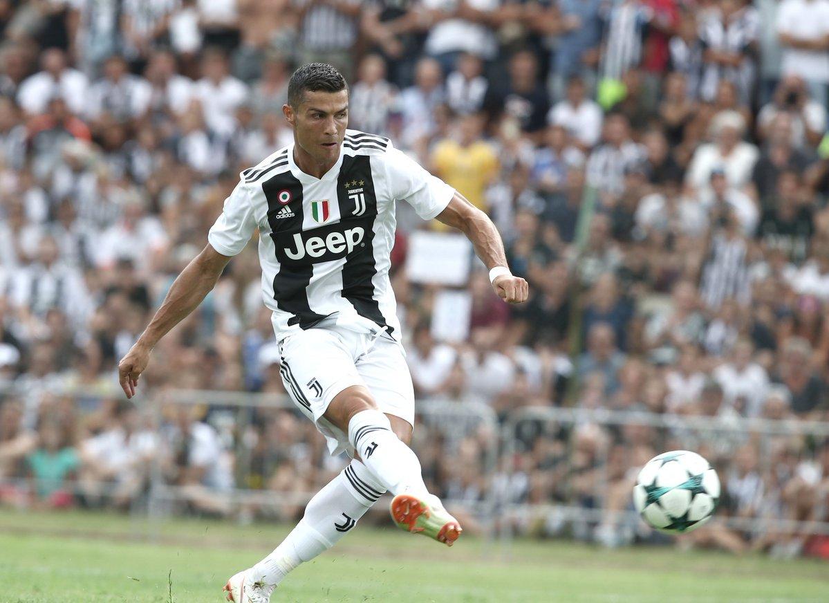 كريستيانو رونالدو يسجل الهدف الأول له بقميص يوفنتوس