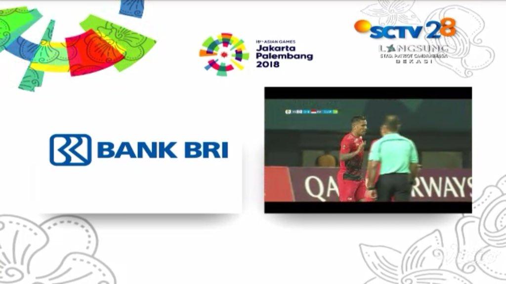 tampilan iklan di sctv saat timnas Indonesia Vs Taiwan