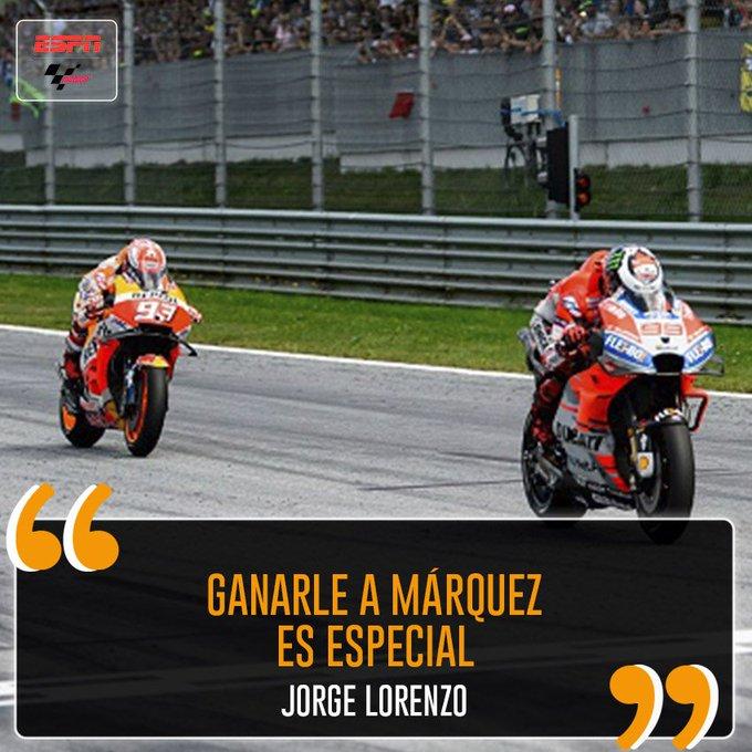 #MotoGPxESPN ¡Cuando derrotas al mejor es siempre especial! Photo