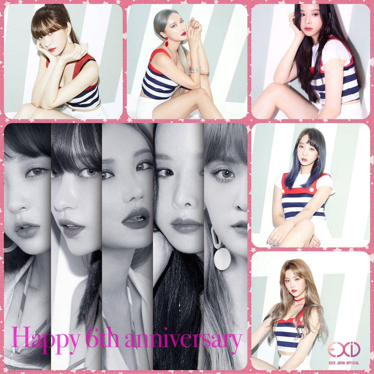 【#EXID 】 Happy 6th Anniversary  Congratulations  #솔지 #LE #하니 #혜린 #정화<br>http://pic.twitter.com/d3ZW9Z2tsK