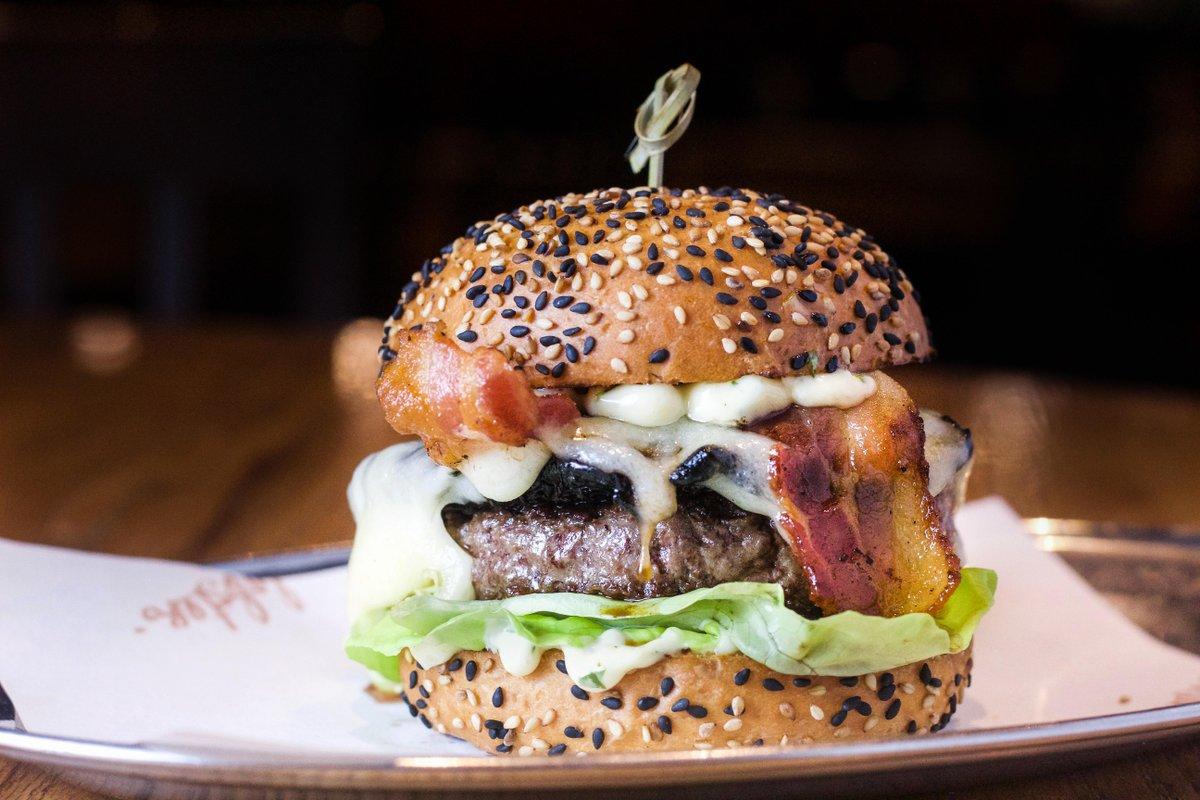 This burger doesn't leave mushroom for improvement 😉 What is your best mushroom joke?! #mushroomburger