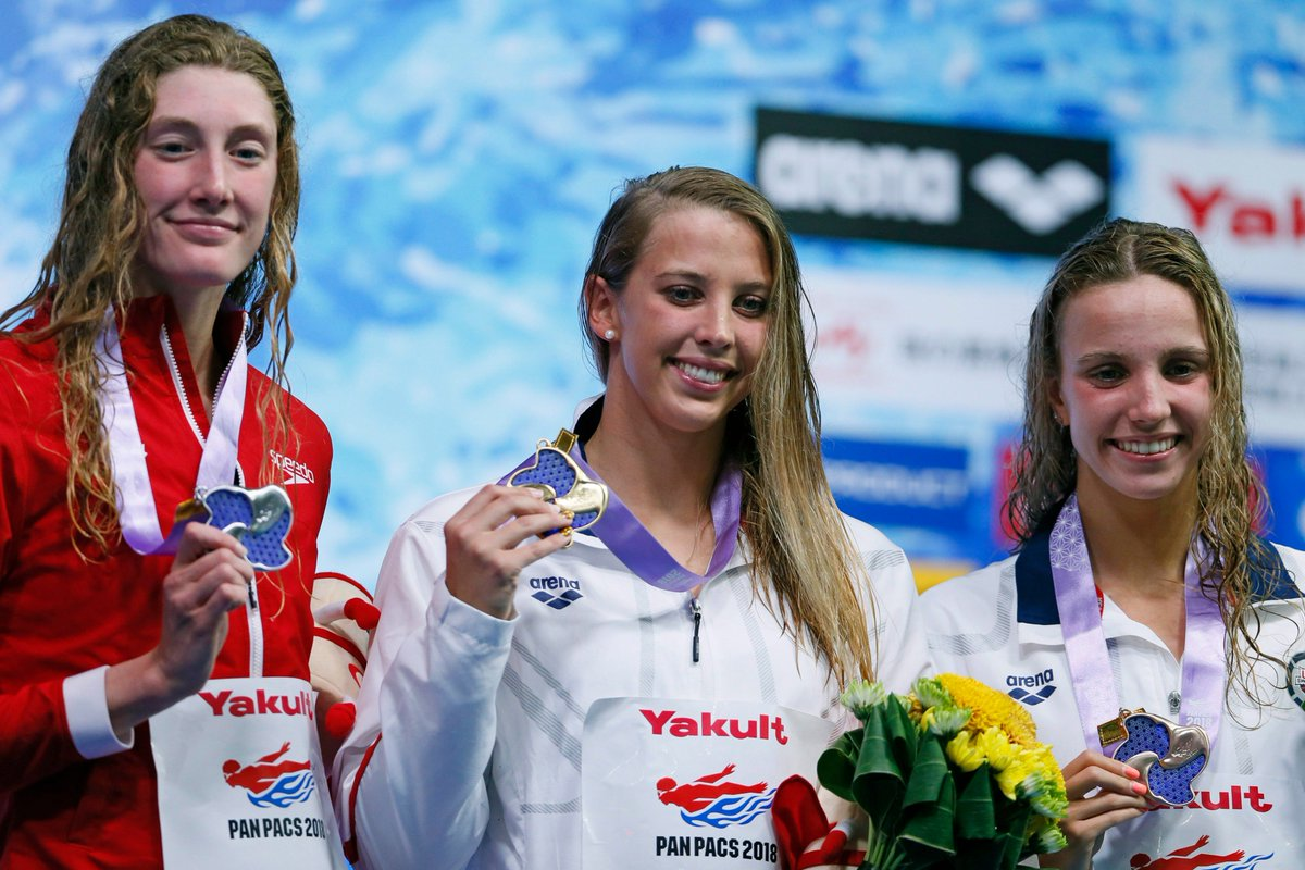 Taylor Ruck set a new Canadian  record and Kylie Masse was named female MVP on the last day of the #PanPacs2018   Details:  http:// bit.ly/2w2eCF4  &nbsp;  <br>http://pic.twitter.com/bNRB5YEy3a