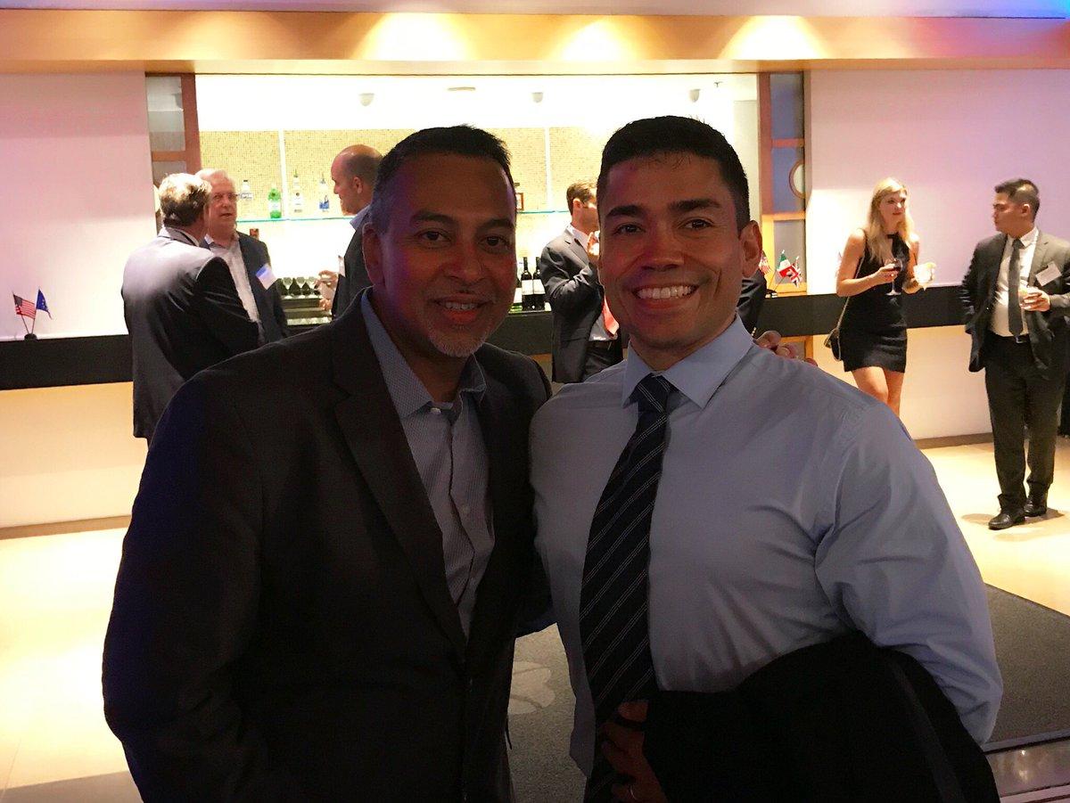 Stephen Gheerow and Frank Gallo enjoying the #GBTA2018 Leadership Dinner last night #NYCBTA #CorporateTravel #BusinessTravel<br>http://pic.twitter.com/TT5cKtWTyG