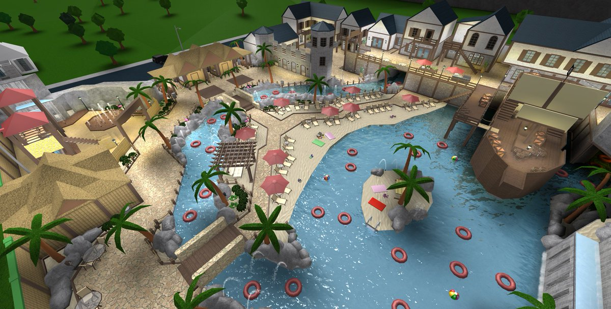 Froggyhopz On Twitter Arggg Welcome To Pirate Cove Bloxburg S New Unique Water Park This Build Is Found In A Tropical Setting Between A Volcano And Historic Pirate Village And Has Plenty