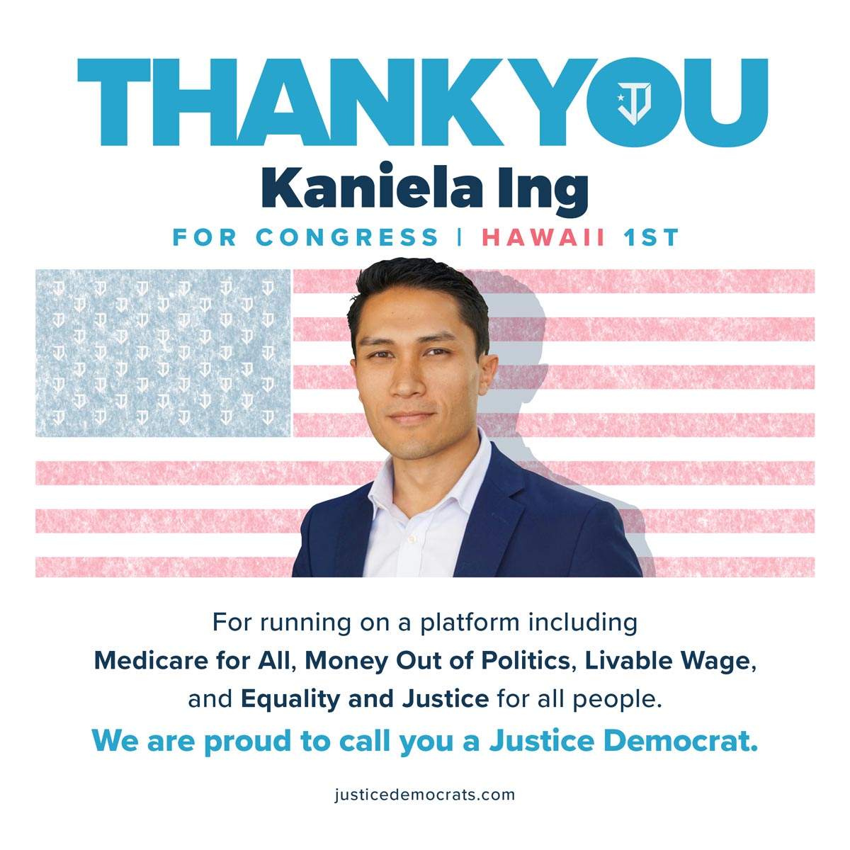 Thank you @KanielaIng for being a tireless advocate for progressive values. Because you shared your vision for a Hawaii that works for everyone and Medicare for all is now supported by the Dem nominee. We are excited to continue this political revolution with you. #FightForAloha <br>http://pic.twitter.com/6dBsSX2KKW