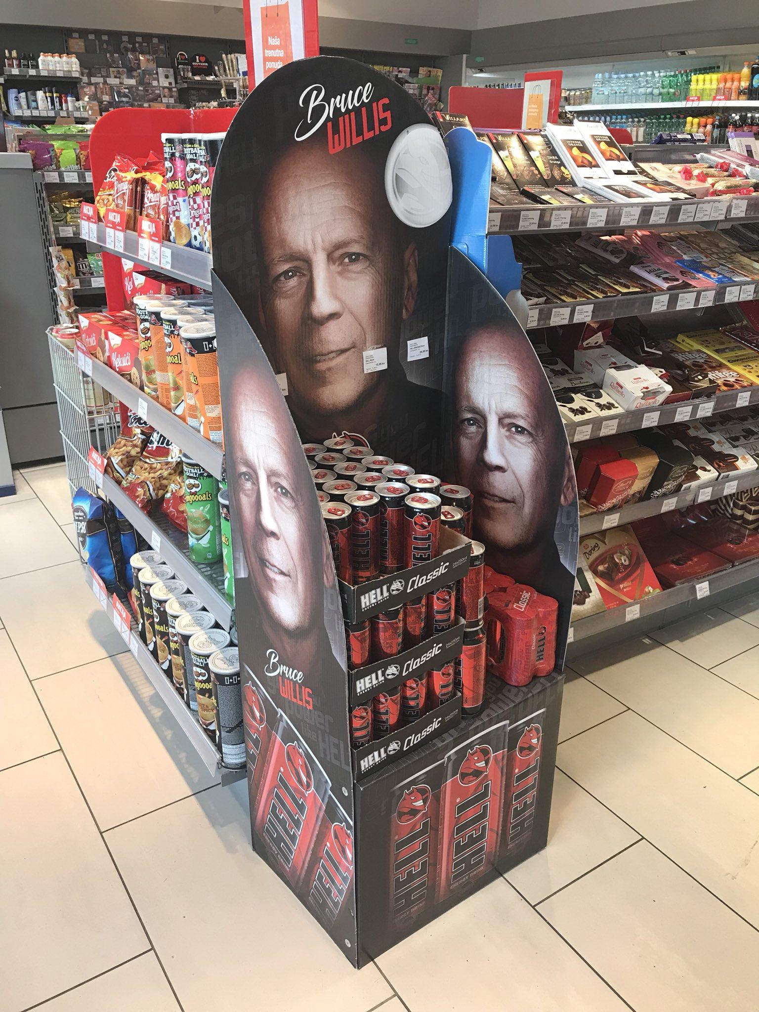 "Manuela Lazic på Twitter: ""Bruce Willis advertising the Hell energy drink… """