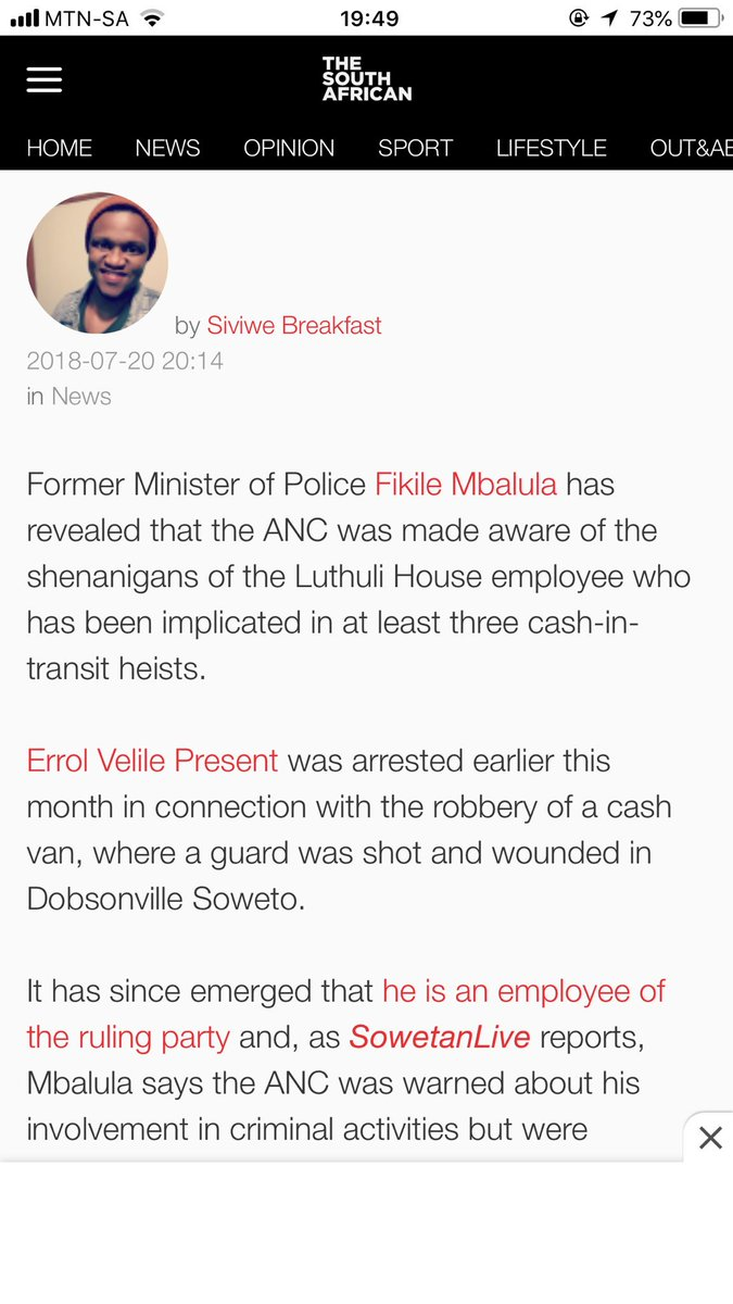 Update: ANC confirms Luthuli House staff member arrested in suspected CIT heist