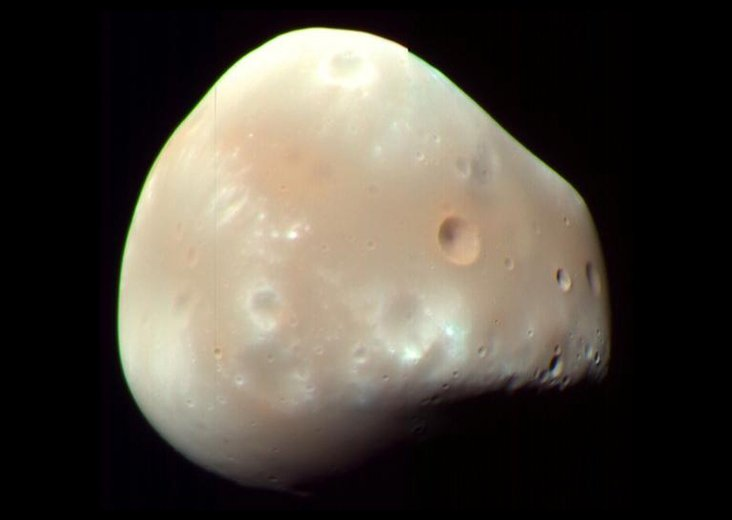 American astronomer Asaph Hall was at the U.S. Naval Observatory (@USNavy) when he discovered the Martian moon Deimos early in the morning (Eastern Time) #OTD in 1877. Deimos orbits Mars once every 30 hours.  https:// go.nasa.gov/2AYS6mp  &nbsp;  <br>http://pic.twitter.com/Di66zpSKUS