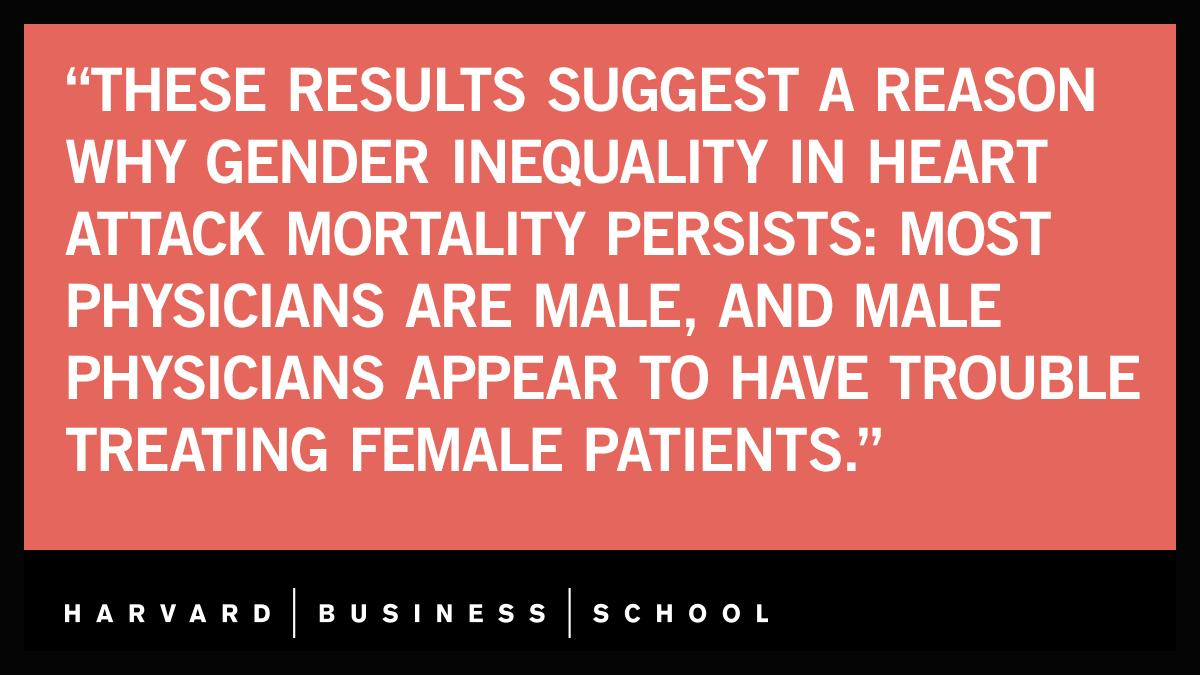 If you're a #woman and having a heart attack, new #research shows your odds of recovery are higher when treated by a female #physician: https://t.co/Tlw3kZ6QkH @LauraHuangLA