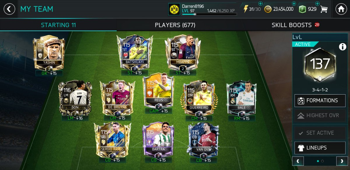 Week 41 - 2 new players and some RUs. Been a while since I updated this thread, but added Son and Mbappé for Depay and Ronaldo and got +8 OVR. Slowly upgrading SBs and most are nearing +16 now. Taking a while to make progress now having to save up XP. #SquadShowoffSunday