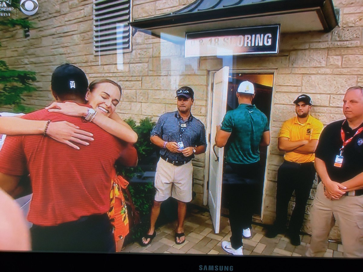 Brooks Keopka leaving Tiger Woods alone with his girlfriend is the only bad decision he made all day. #PGAChamp <br>http://pic.twitter.com/WBSZB4dmAY