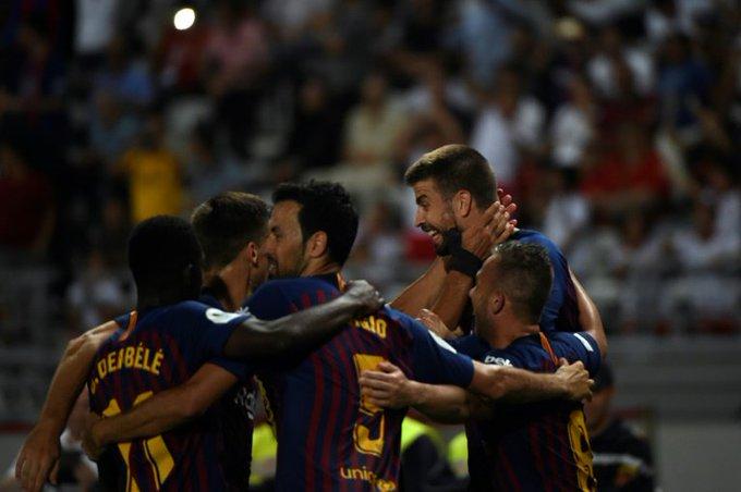 Supercoupe d'Espagne : victoire du FC Barcelone, Piqué et Dembélé buteurs Photo