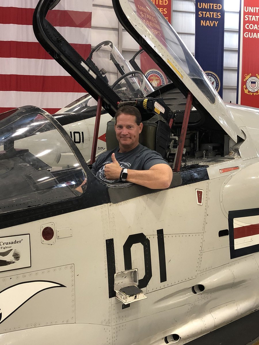 My childhood friend is a retired Navy pilot. Visited the Naval Air Museum in Pensacola with him this weekend! I so admire him and the millions who have served including my own father. SO MUCH RESPECT! I love this country!#GodBlessAmerica <br>http://pic.twitter.com/NsBXPW7NHD