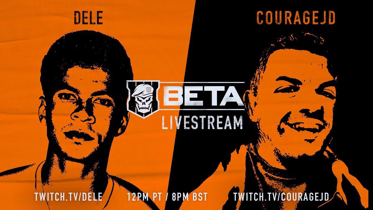 We LIVEEE! Gaming with the legend Dele Alli!  Dominating Black Ops 4, convincing him to let me join his football club, and teaching him about Twitch Prime.  http:// Twitch.tv/CouRageJD  &nbsp;  <br>http://pic.twitter.com/k2NE1DP3Zx