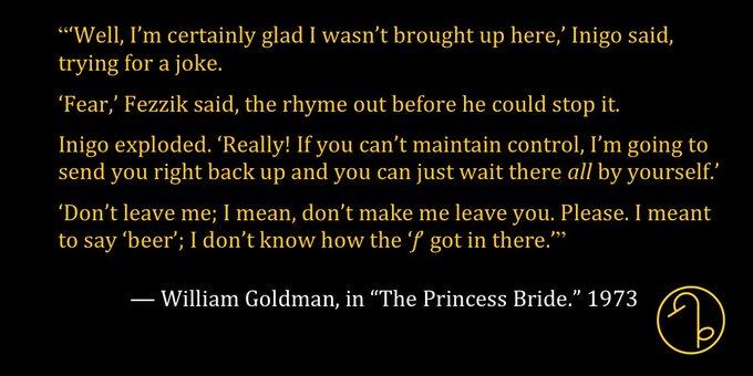 Happy Birthday American novelist, playwright, and screenwriter William Goldman (August 12, 1931- )