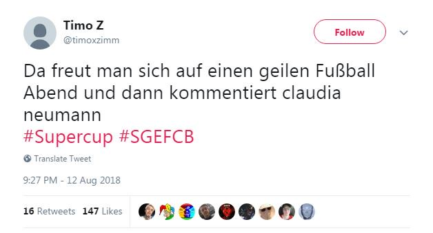 Felix Tamsut On Twitter Sgefcb S Commentator Is Claudia