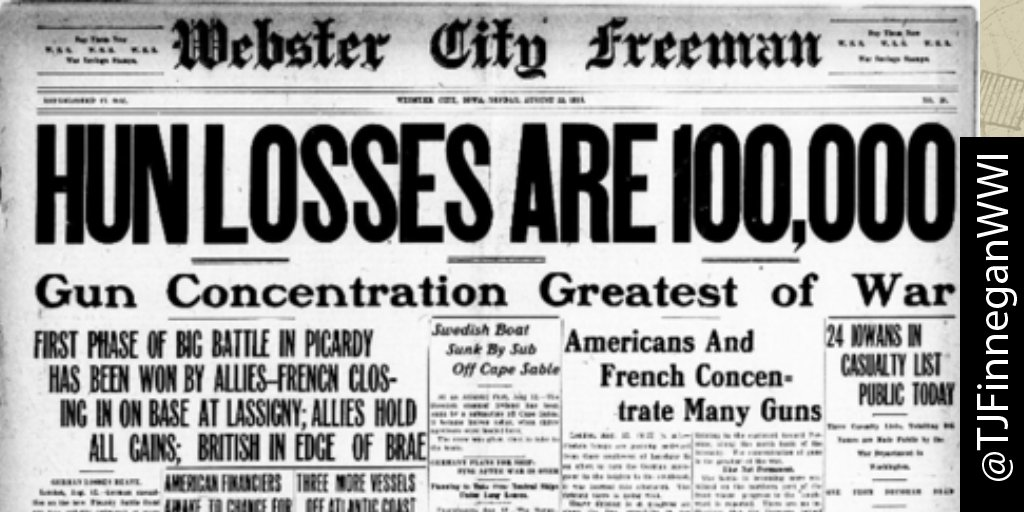 Hun losses are 100k  http:// ow.ly/U4KL30cjc86  &nbsp;   #wwi #wwi100 #wwidaybyday #ww1<br>http://pic.twitter.com/yWn1VM91Em