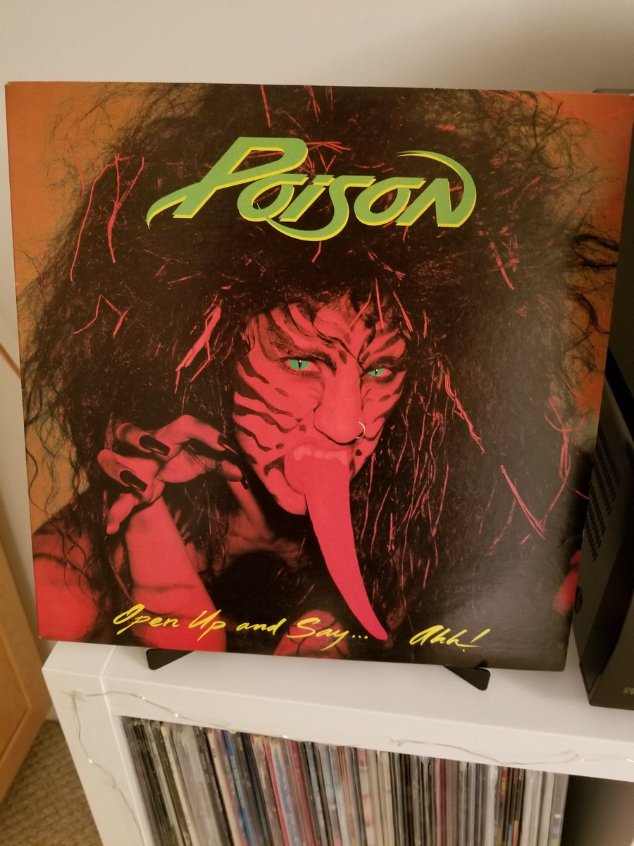 Day 120 tweeting #MyRecordCollection is my favorite Poison album, the awesome Open Up And Say Ahhhh.... this was the album that made me a full on Poison fan. Stellar from start to finish, full on party metal with one of the best power ballads #ClassicRock #80sMetal #vinylrecords <br>http://pic.twitter.com/FR736XFtQS