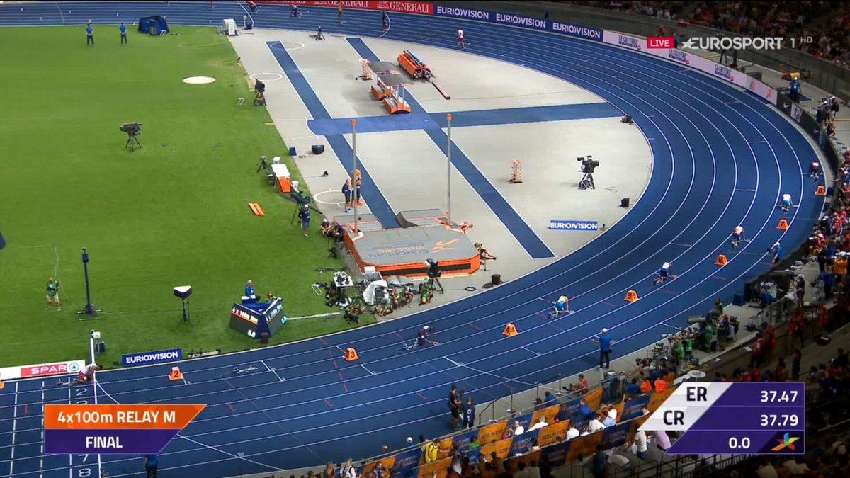 Europese Kampioenschappen: Nederlandse mannen pakken brons op 4x100 m