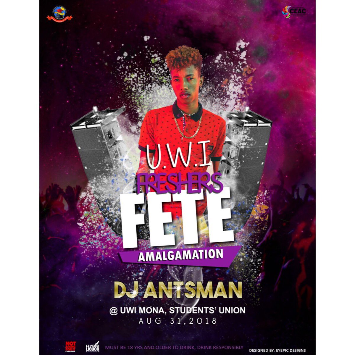2018 YVA's recipient of the Favourite DJ award is coming to turn up the vybz  at the Students' Union. Don't miss the experience of the party coming alive on August 31 at Freshers' Fete with DJ Antsman .  #FreshersFete #Amalgamation<br>http://pic.twitter.com/9ar5JO0zd3
