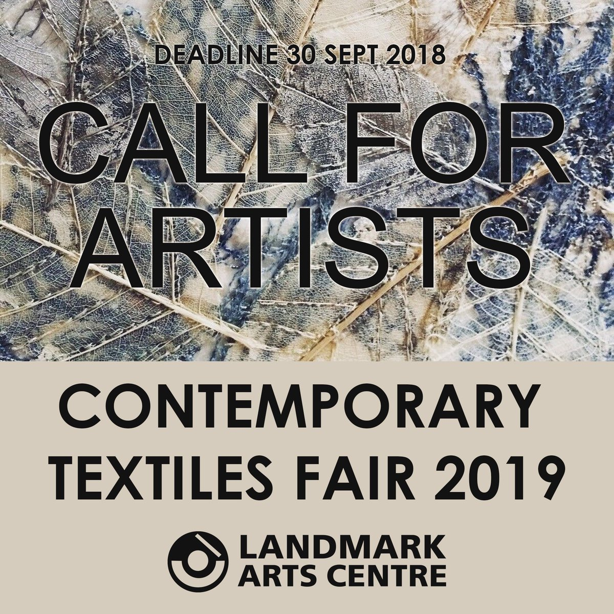 Applications now open for the Contemporary Textiles Fair 2019! More info on the website. #teddington #textiles #artfair #artopp #callforartists #landmarkarts<br>http://pic.twitter.com/Yd8zVExIWA