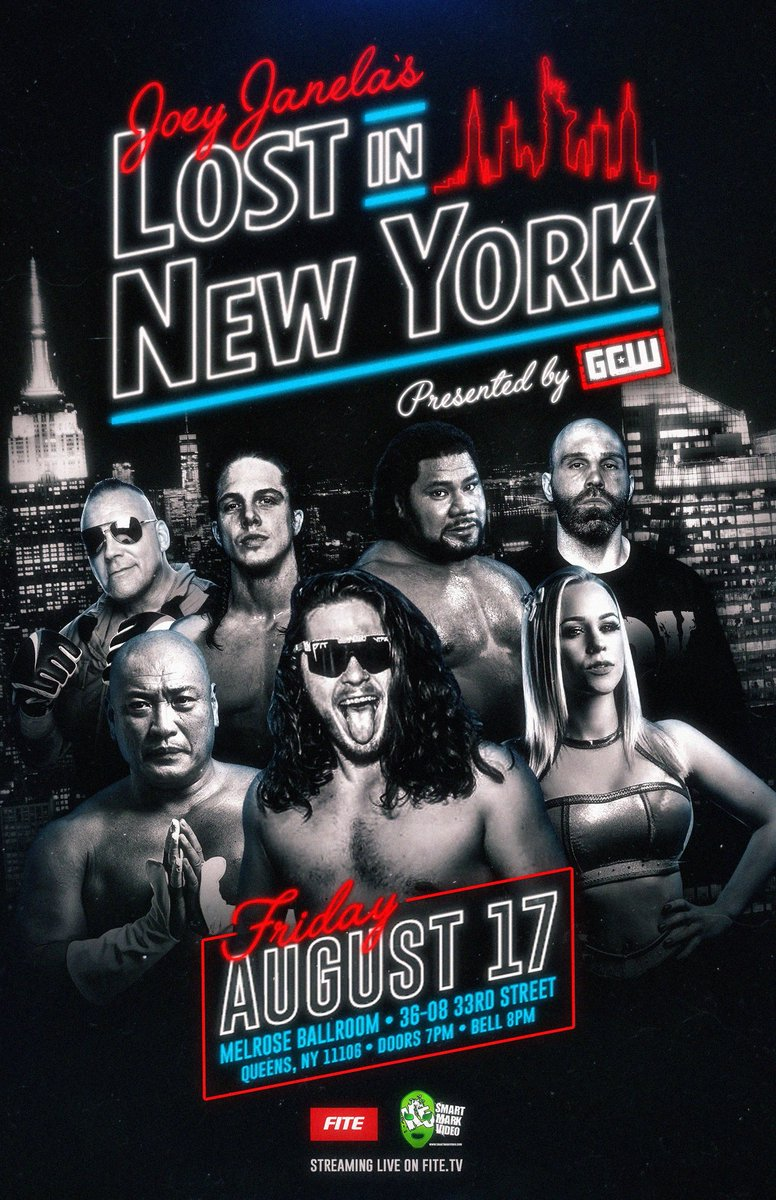 GCW presents Joey Janelas Lost in New York is SOLD OUT, but you can still follow along and watch LIVE on @FiteTV via our friends at @smartmarkvideo! Buy it now and own it forever.... Order/Info: fite.tv/watch/joey-jan…
