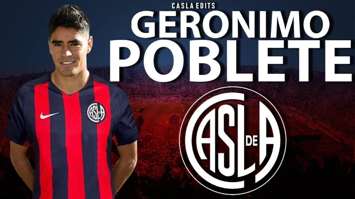 Geronimo Poblete é un nuovo giocatore del #SanLorenzo. Arriva in prestito con diritto di riscatto.#MercadoDePases #Superliga  - Ukustom