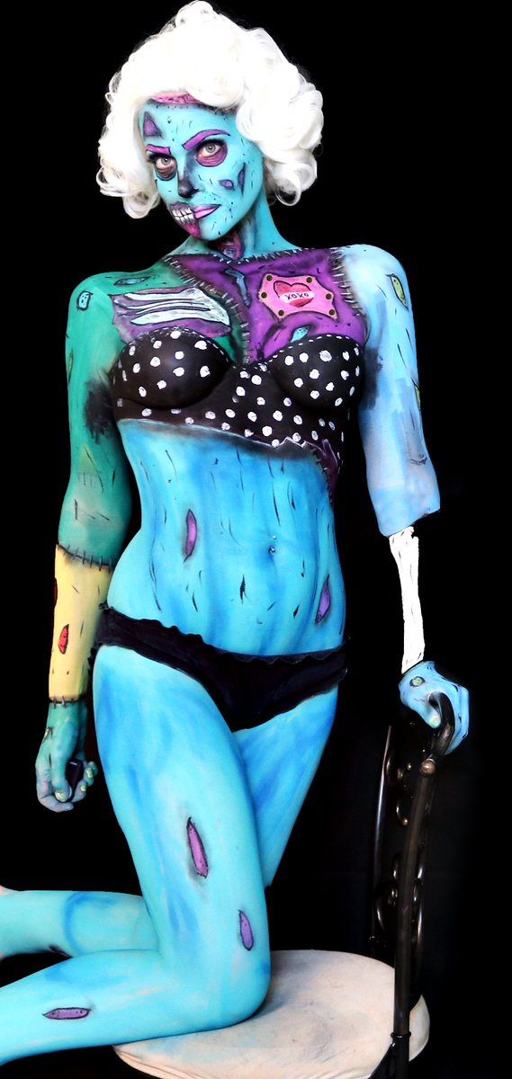 Pinky Petals On Twitter Pin Up Pop Art Zombie Full Body Makeup Created Using Our Face Paint Palette And Ultra Thin Nipple Covers Get Yours Today Https T Co L8fmjxmvfk Popartzombie Zombie Specialeffectmakeup Makeup Makeupartist