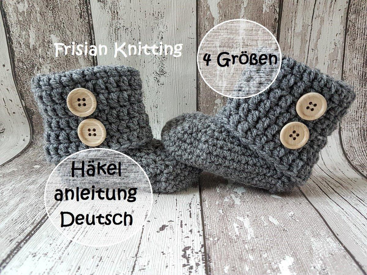 Frisian Knitting On Twitter Häkelanleitung Babyschuhe Patroon