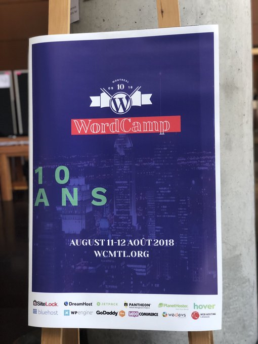 And it's a wrap for a 10th #WordCampMTL ! Load of sessions for al level of expertise and an open and welcoming community. h/t to an incredible local @WordPress organization 💪 @wordcampmtl #WCMTL Photo