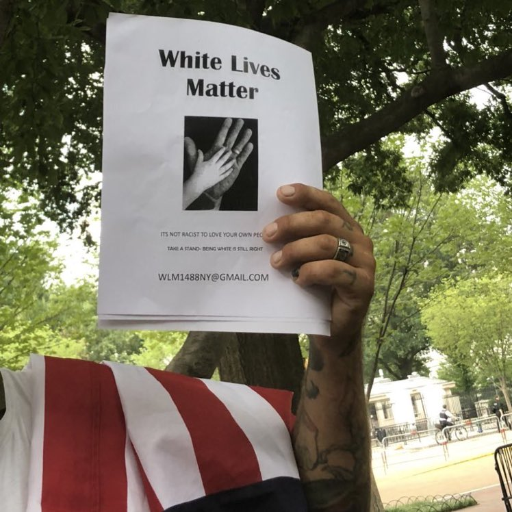 Jason Kessler said Unite the Right 2 wasn't about white supremacy but surprise surprise here's attendees with tattoos and pamphlets touting the neo-Nazi symbol 1488 and the 14 Words slogan <br>http://pic.twitter.com/oIOQMU3uUj