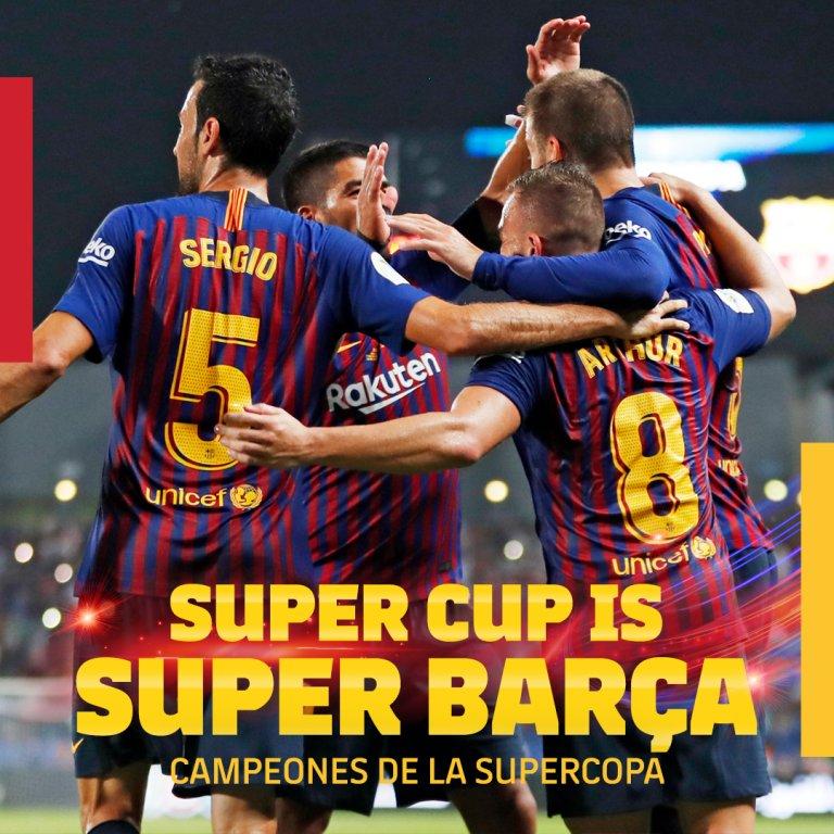 ¡¡¡CAMPEOOOOOOOOONEEEES!!! 🏆 #SupercopaBarça 🔵🔴
