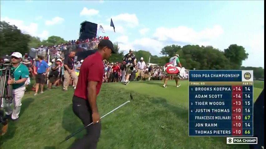 Tiger watch, he's one shot back  #PGAChamp <br>http://pic.twitter.com/Q3RXpGUwOQ